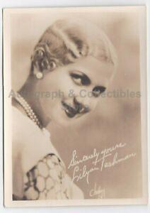 Original Vintage Lilyan Tashman 1920s Fan Photo With Printed Signature