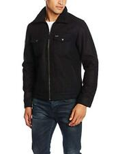 Mens Wrangler The Wool Jacket - Black Size Large