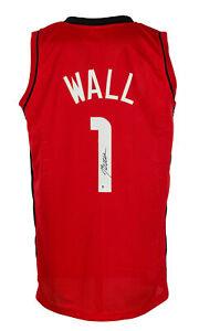 John Wall Signed Custom Red Pro Style Basketball Jersey BAS ITP