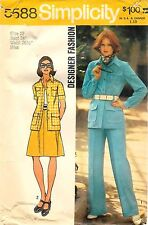 Vintage 1973 Simplicity Sewing Pattern # 5588 Misses' Shirt-Jacket Skirt & Pants