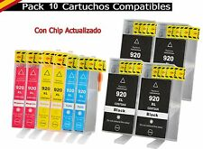 10 tinta cartuchos para HP 920 XL OfficeJet 6000 W se 6500 a plus 7000 se 7500 a