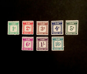 SG D1/D8 British Solomon Islands 1940 postage due set of 8 values, Ltly Mounted