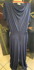 AGB Navy Blue Jumpsuit Romper Short Sleeve Dressy or Casual Size X- Large
