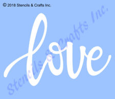 "3"" LOVE STENCIL LOWERCASE TEMPLATE ART WORD  PAINT CRAFT SCRAPBOOK COLOR NEW"
