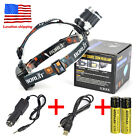 BORUIT 13000Lm 3*XML T6 LED Headlight Headlamp Powerbank Rechargeable Light Kit