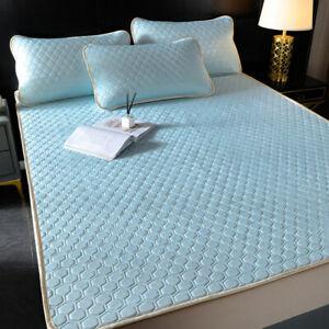 Summer Cool Latex Queen Bed Sheet Mattress Cover Topper Pad Sleeping Bed Mat New