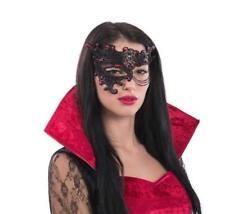 Black & Red Filigree Phantom of The Opera Mask Venetian Masquerade Masked Ball