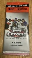 2020 TOPPS CHROME UPDATE BASEBALL FACTORY SEALED CELLO PACK W/ 2 PINK REFRACTORS