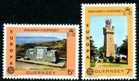 GUERNSEY 1978 EUROPA MONUMENTS PAIR OF COMMEMORATIVE STAMPS MNH (l)