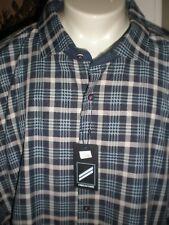 NWT DANIEL HECHTER MULTI-CHECKED L/S DRESS SHIRT SZ:5XL 5X RETAIL $120.00 RARE