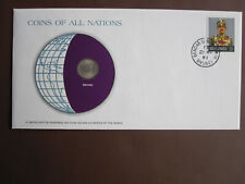 Brunei 1979 COINS OF ALL NATIONS cover with coin + stamp