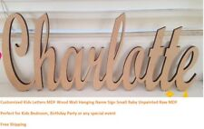 Customized Kids Letters MDF Wood Wall Hanging Name Sign Small Baby Unpainted