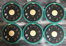 GUINNESS BEER MATS / COASTERS (X6) - NEW / GUINNESS TIME / BLUE