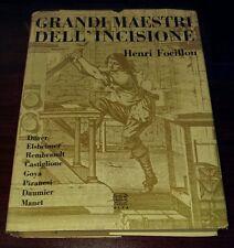 Grandi Maestri Dell' Incisione Henri Focillon 1965 Hardcover Rare Book Italian