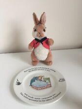 Ty Beanie Babies Flopsy Bunny & Wedgwood Peter Rabbit Tea Plate Bundle Gift