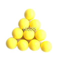 New .68 cal Reusable resilient soft Rubber Training Balls Paintballs Yellow