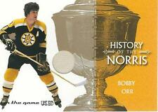 BOBBY ORR 03-04 ITG Used Signature Series Norris Trophy GAME USED JERSEY /50 *