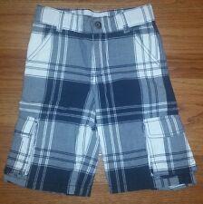 NEW Gymboree Blue White  Plaid Cargo Shorts  Boys Size 5 NWOT