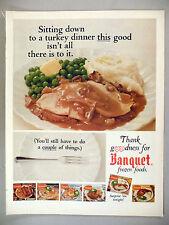 Banquet TV Dinners PRINT AD - 1966 ~ Frozen Dinner