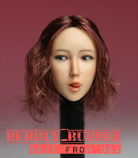 1/6 Asian Sexy Female Head Sculpt with Tongue C For HotToys Phicen SHIP FROM USA