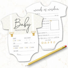 10 x Baby Shower Games Prediction & Advice Cards New Mum To Be ~ Boy Girl