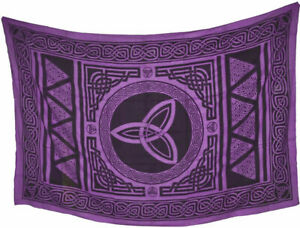 "Tapestry /""Celtic Tattoo/"" Green 69 x 108 FREE SHIPPING"