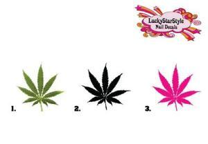 Waterslide Nail Decals Set of 20 - Pot Marijuana Cannabis Leaf - you choose