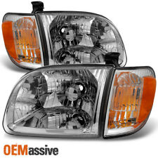 Fits 00-04 Toyota Tundra Regular | Access Cab Headlights w/ Corner Lights Pair