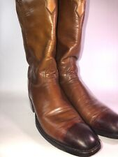 lucchese boots Ladies Size 10.5 A Custom Cowboy Boots Brown Custom Leather