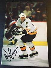 DAVE POULIN SIGNED 1991 BOSTON BRUINS POST CARD HOCKEY PHOTO,Flyers Hall Of Fame