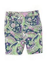 Women Lilly Pulitzer Navy Blue Royal  Poinciana Paisley Bermuda Shorts Size 0