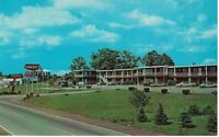 Postcard PA Pittsburgh Street View Conley's Motel Vintage Cars Chrome
