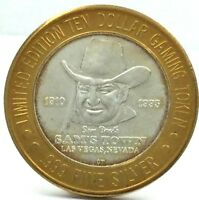 Limited Edition Sam's Town Casino .999 Silver Strike 10 Dollar Gaming Token