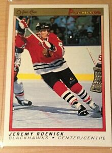 1990-91 O Pee Chee Premier #100 Jeremy Roenick RC Rookie Card Mint Well Centered