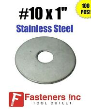 "(Qty 100) #10"" x 1"" OD Stainless Steel Fender Washers Type 304"