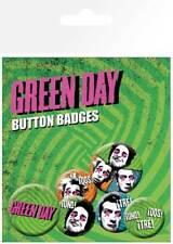 Green Day Uno Dos Tres - 6 Ansteck Button für Fans