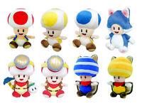 Brand New Little Buddy Super Mario Bros. Toad Stuffed Plush Doll Smash Wii