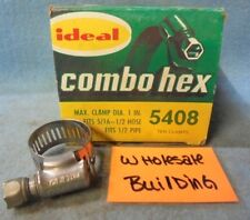"""PARKER IDEAL COMBO-HEX HOSE CLAMPS 5408, 1"""" CLAMP DIA. 1/2"""" HOSE/PIPE, BOX OF 10"""