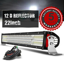 22 zoll LED Arbeitsscheinwerfer Auto Offroad Lichtbalken Strahler Flutlicht 12V