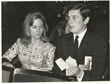 ALAIN DELON & NATHALIE DELON Original Vintage CANDID by Associated Press 1965