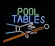 """New Pool Tables Billiards Game Room Beer Bar Pub Neon Light Sign 17""""x14"""""""