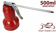 500ml OIL CAN - RIGID SPOUT. LUBRICANT THUMB PUMP STEEL BODY RUBBER HOSE PINT
