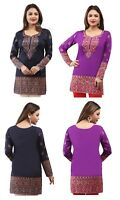 UK STOCK - WOMEN FASHION INDIAN KURTA KURTI TUNIC TOP SHIRT 162 (B,D)