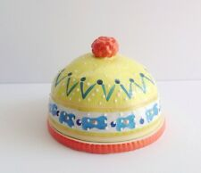 Anthropologie domed butter dish, new with tags, snow day, winter kitchen decor