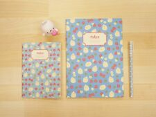 MOLANG cute Pattern Memo Notebook Note book Notepad 2 Size SET - Strawberry blue