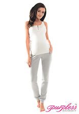 Purpless Maternity Pregnancy Over Bump Joggers Trousers 1307 12 Light Gray