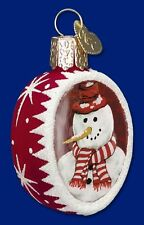 *Inside Art - Peppermint Snowman* Old World Christmas Glass Ornament - NEW