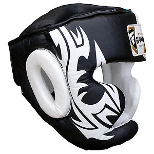 Farabi Real Leather Boxing Head Guard Kick Boxing Head Protection Helmet