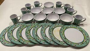 Dish Set Evolution Sakura Coastal Breeze Lighthouse 8 Cups Bowls Plates Nautical