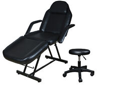 "73"" Adjustable Tattoo Massage Bed Facial Beauty Barber Chair w/ Hydraulic Stool"